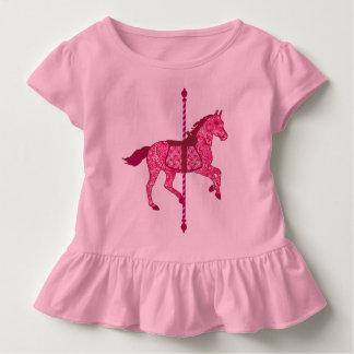 Caballo del carrusel - rosa del fucsia camisas