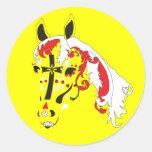caballo del cráneo del azúcar pegatina
