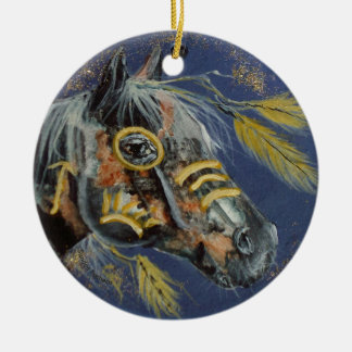 Caballo del nativo americano, cada ornamento del