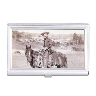 Caballo del oeste americano del vaquero del caja de tarjetas de negocios
