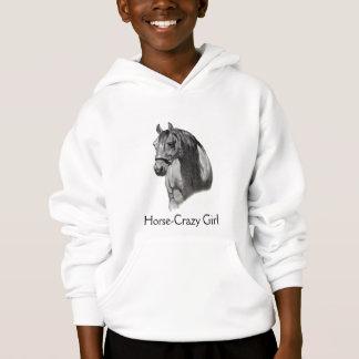 CABALLO: Dibujo de LÁPIZ equino: CHICA DE