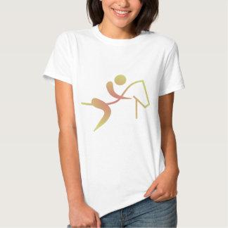 Caballo ecuestre del icono de la llama de la camisetas