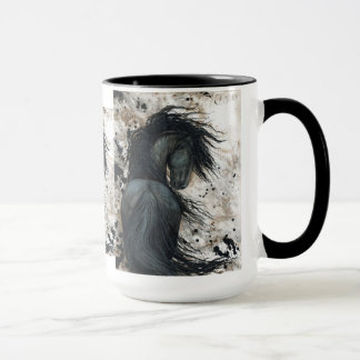 Caballo frisio majestuoso por la taza de Bihrle