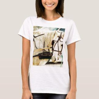 Caballo gris del cochecillo de Amish Camiseta
