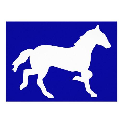 caballo invitaciones personalizada