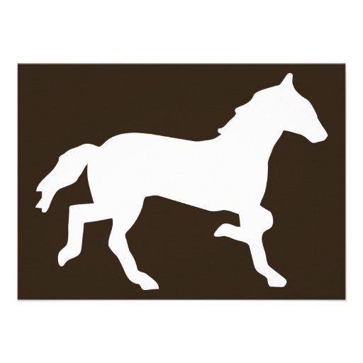 caballo invitaciones personales