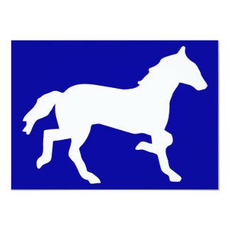 caballo invitación 11,4 x 15,8 cm