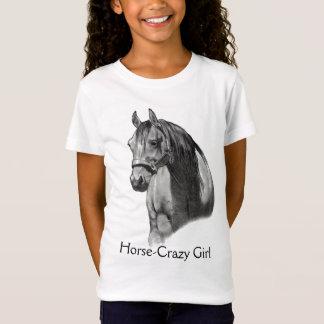 CABALLO: LÁPIZ: HORSE-CRAZY: CHICA CAMISETA