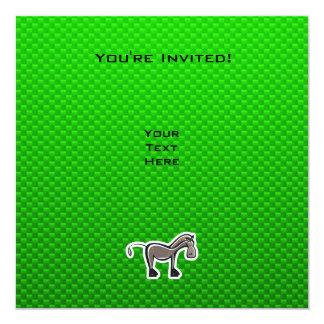 Caballo lindo; Verde Invitación 13,3 Cm X 13,3cm