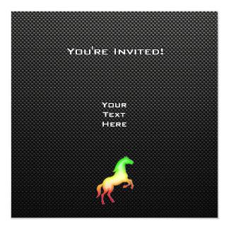 Caballo liso invitación 13,3 cm x 13,3cm