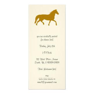Caballo (montar a caballo, ecuestres) invitación 10,1 x 23,5 cm