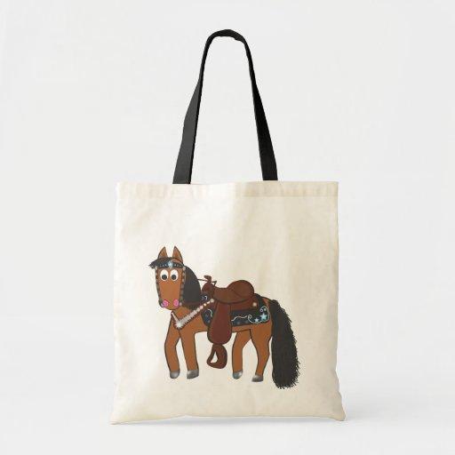 Caballo occidental del dibujo animado lindo bolsa de mano