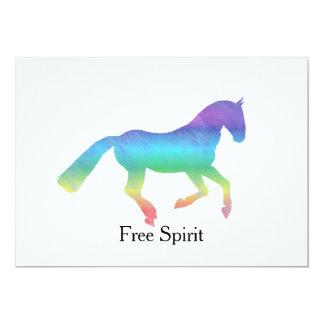 Caballo pintado espíritu libre invitación 12,7 x 17,8 cm
