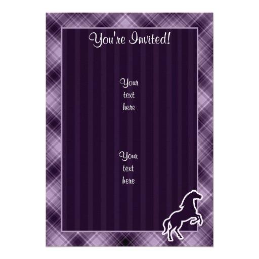 Caballo púrpura anuncios