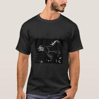 Caballo que galopa a la derecha (wb) [camisa] camiseta