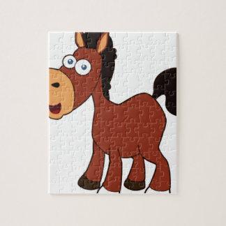 caballo rojo del dibujo animado puzzle