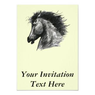 Caballo salvaje ardiente invitación 12,7 x 17,8 cm