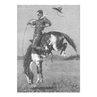Caballo salvaje Bucking por Remington, vaqueros de Invitaciones Personales