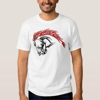 Caballo tribal camisetas