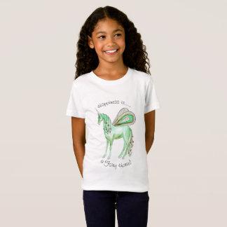 Caballo verde de la hada del unicornio camiseta