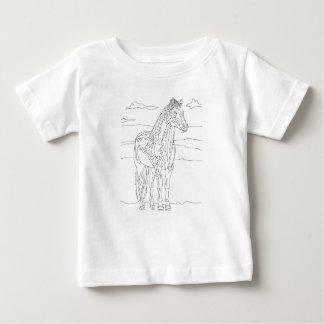 Caballo vivo del país camiseta de bebé