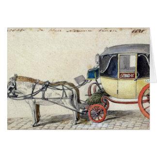Caballo y carro, 1825 tarjeta de felicitación