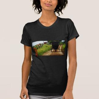 Caballo y cochecillo de Amish Camiseta
