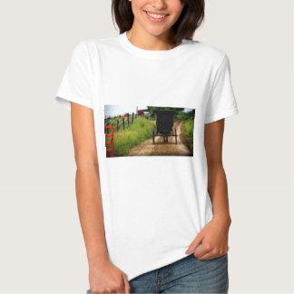 Caballo y cochecillo de Amish Camisetas