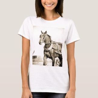 Caballo y cochecillo de Amish de la sepia Camiseta