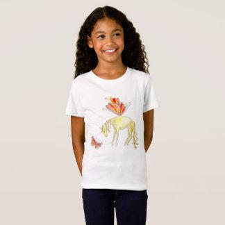 Caballo y mariposa de hadas camiseta