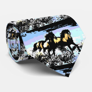 Caballos corrientes del arte pop corbata personalizada