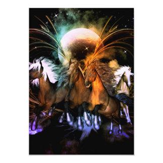 Caballos corrientes que sorprenden invitación 12,7 x 17,8 cm