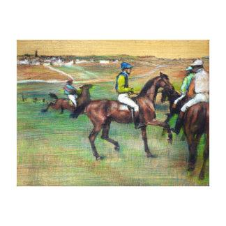 Caballos de raza de Edgar Degas Impresión En Lienzo
