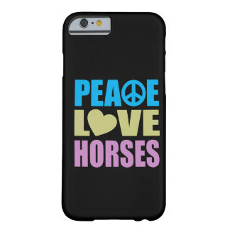 Caballos del amor de la paz funda de iPhone 6 barely there