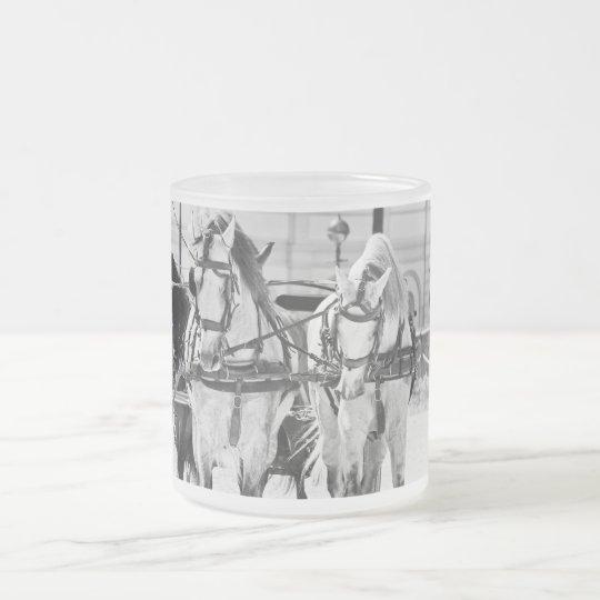 caballos del carrige. España Taza De Café Esmerilada