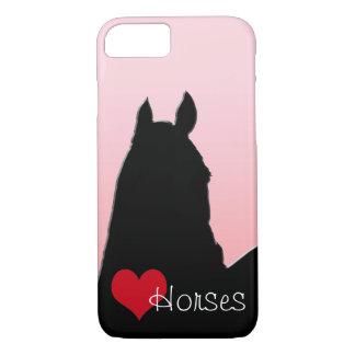 Caballos del corazón I (rosa descolorado) Funda iPhone 7