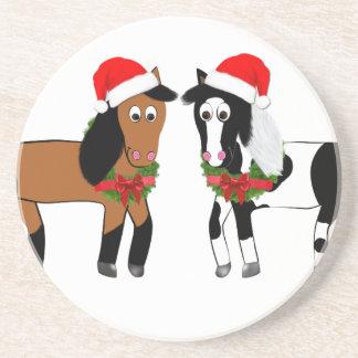 Caballos del navidad posavasos
