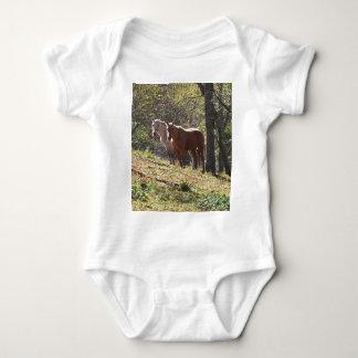 Caballos en la granja body para bebé