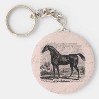 Caballos excelentes retros del caballo de raza de  llavero redondo tipo chapa