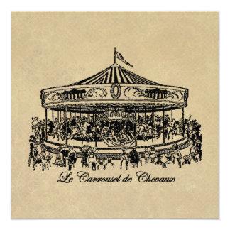 Caballos franceses ropa y regalos del carrusel invitación 13,3 cm x 13,3cm