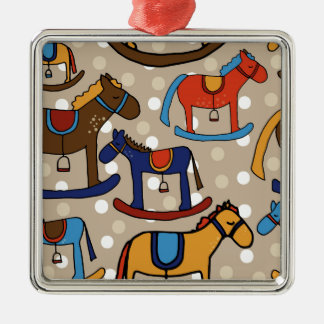 caballos mecedora adorno de cerámica