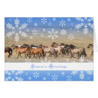 Caballos salvajes - tarjeta del día de fiesta 5x7
