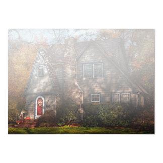 Cabaña - Cranford, NJ - cabaña del otoño Invitación 12,7 X 17,8 Cm