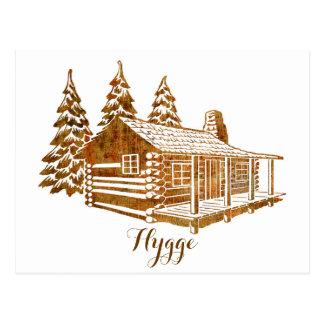 Cabaña de madera acogedora - Hygge o su propio Postal