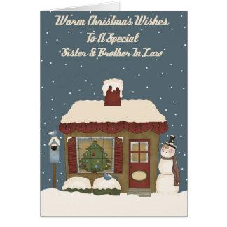 Cabaña del navidad un cuñado especial de la tarjeta de felicitación