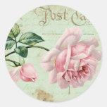 Cabaña floral elegante del vintage de los rosas fe pegatina