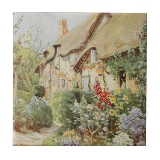 Cabaña II, Stratford-sobre-Avon, En de Ana Hathawa Azulejo Cuadrado Pequeño
