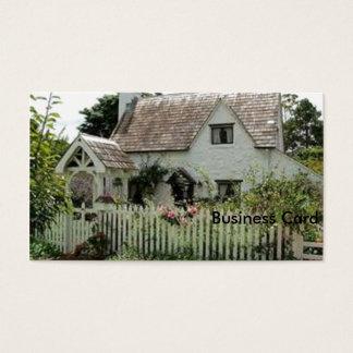 Cabaña inglesa tarjeta de visita