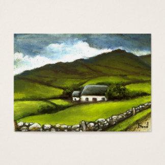 Cabaña irlandesa vieja tarjeta de visita