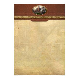 Cabaña - Westfield, NJ - abuela Ridinghoods hous Invitación 12,7 X 17,8 Cm